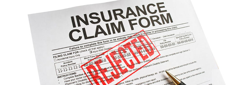 Insurance Claim Form - Rejected